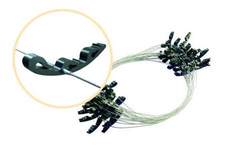Крепеж для монтажа греющего кабеля на кровле
